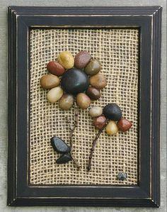Pebble Art, Rock Art, Pebble Art Flowers, Rock Art Flowers (Set of. Stone Crafts, Rock Crafts, Diy And Crafts, Arts And Crafts, Rock Flowers, Pebble Pictures, Art Pictures, Rock And Pebbles, Flower Art