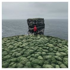 Downpatrick Head | Ireland | This sea stack is know as Dún Briste (The Broken Fort). It rises some 45m out of the crashing north Atlantic waves.