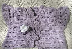 Crocheted Infant Sweater Vest Flower Headband by MagdaleneKnits
