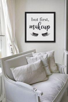Makeup First Black Framed Print Wall Art