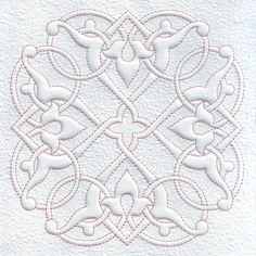 Fleur de Lis Quilt Block Quilting Trapunto by EmbroideryByLada