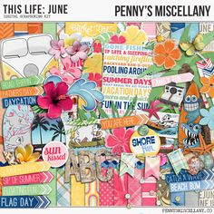 Free digital scrapbook kit - This Life: June by Penny's Miscellany. Scrapbook your summer!