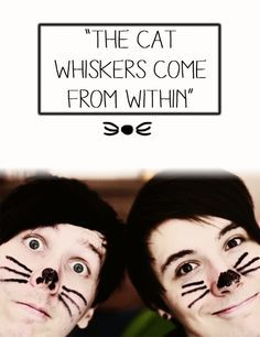 dan and phil cat whiskers wallpaper - Google Search