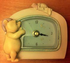RARE Collectible Disney Classic Winnie The Pooh Desk Clock by Michel Co