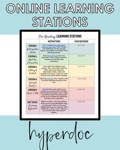 How to Structure Learning Stations Online - Write on With Miss G