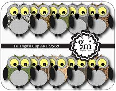 Owl, Owl Clip Art, Owl Clipart, Owl Digital Paper, Owl Digital, Instant Download, Colorful Owl, Owl Decor - pinned by pin4etsy.com