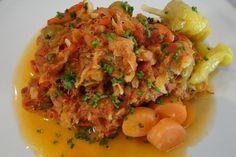 Bakijou stoba (gestoofde, gezouten vis)
