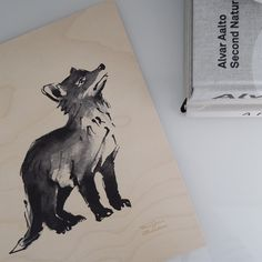"""This cute little fox cub printed on sustainable plywood will make you say """"Aaawwww..."""" Photo by @nordicnotes #teemujärvi #teemujarvi #teemujärviillustrations #teemujarviillustrations #natureart #homedecor #artprint #foxcub #ketunpoika #woodposter #plywoodposter #puinenjuliste #illustration #forestisastateofmind How Do You Work, Forest Bathing, Walk In The Woods, Wilderness, Moose Art, The Incredibles, Plywood, Drawings, Illustration"""