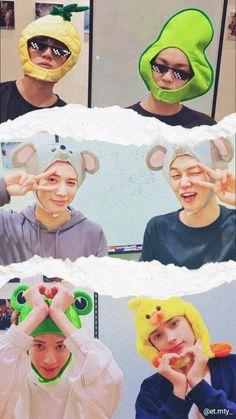Crazy Wallpaper, Wallpaper Quotes, Aesthetic Backgrounds, Aesthetic Wallpapers, Pineapple Wallpaper, Header Tumblr, Kpop Guys, K Idols, Cute Animals
