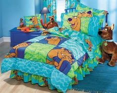SCOOBY DOO Thumbprints - Boys and Girls Comforter - Twin Bedding