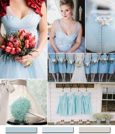 Hot Winter Hochzeit Farbkombinationen: Eisblau & weiß oder Silber