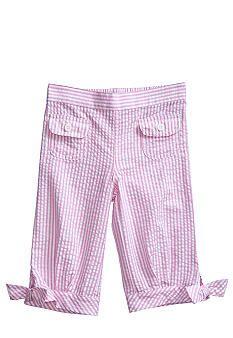 J Khaki™ Seersucker Capri Toddler Girls