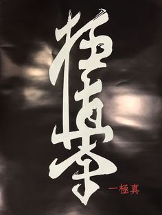 Kyokushin Karate Kanji Poster Martial Arts Japanese Japan | eBay