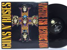 Guns n Roses Appetite for Destruction Original Vinyl Record LP GHS 24148 Geffen