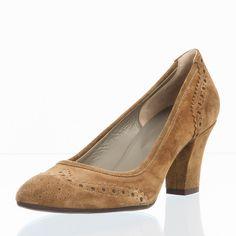 POLLINI Damen Pumps braun Absatz höhe 7cm Schuhe Damen Pumps
