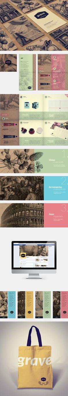 Cool Brand Identity Design. Grave. #branding #brandidentity [http://www.pinterest.com/alfredchong]