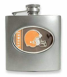Cleveland Browns Stainless Steel Hip Flask Real Goldia Designer Perfect Jewelry Gift goldia. $36.00