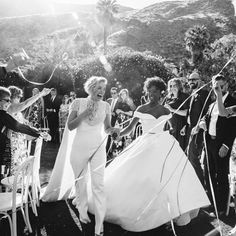 Your wedding planning journey starts here. Inspiration, advice, and all of your wedding etiquette questions answered right this way. Wedding 2017, Dream Wedding, Wedding Dreams, Samira Wiley Lauren Morelli, Wedding Etiquette, Lesbian Wedding, Christian Siriano, Marry You, Celebrity Weddings