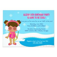 Shop Winter Pool Party Invite created by InvitationBlvd. Pool Party Birthday Invitations, 8th Birthday, Some Fun, Create Yourself, Family Guy, Winter, Invite, Winter Time, 8th Anniversary