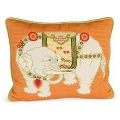 needlepoint elephant | Needlepoint Elephant Pillow