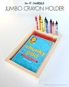 DIY jumbo crayon holder with free plans