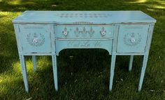 A personal favorite from my Etsy shop https://www.etsy.com/listing/525945920/sideboard-chalk-painted-in-teal-with