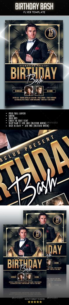 Birthday Flyer Template Vol  Flyer Template Template And Birthdays