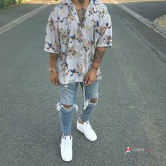 Mens Street Style Vintage Printing Loose Short Sleeve Shirt - Sign Tutorial and Ideas Street Style Vintage, Urban Street Style, Urban Style, Summer Outfits Men, Stylish Mens Outfits, Trendy Outfits For Guys, Black Men Street Fashion, Fashion Men, Men Summer Fashion