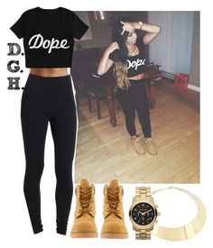"""""""Dope."""" by dopegenhope ❤ liked on Polyvore featuring Michael Kors, Timberland and Yummie Tummie"""
