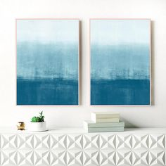 A set of two serene abstract paintings with beautiful blue and white tones, perfect for your relaxing, modern home. You can download and print these files instantly giving you the flexibility to print at a variety of sizes up to 23.4 x 33.1 (A1) or 24x36 inches.