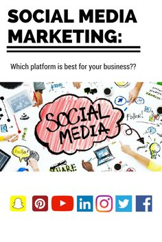 Getting #socialmedia #marketing right can be a costly and time-consuming affair. Luckily, our article that helps companies decide which platform is best for their #business will help you pick which channel will deliver the most ROI for your efforts. What will it be? #Facebook #LinkedIn #Snapchat #YouTube #Twitter #Instagram #Pinterest