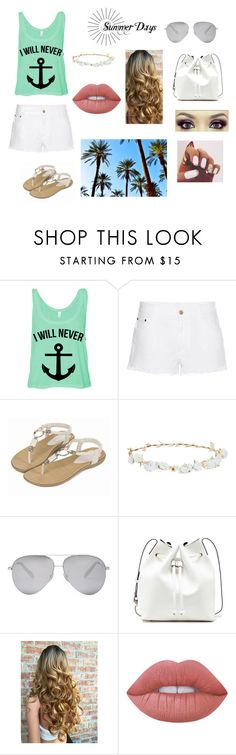 """""""me + pool = summer"""" by leslyforlife ❤ liked on Polyvore featuring STELLA McCARTNEY, Robert Rose, Victoria Beckham, Sole Society and Lime Crime"""
