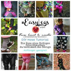 """Freebook - """"EasyLegs"""" - From Heart to Needle - coole maßgeschneiderte Leggings für Dein Kind."""