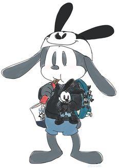 Walt Disney Parks, Disney Xd, Disney Fan Art, Cute Disney, Disney Magic, Disney Mickey, Epic Mickey, Oswald The Lucky Rabbit, Cute Kawaii Drawings