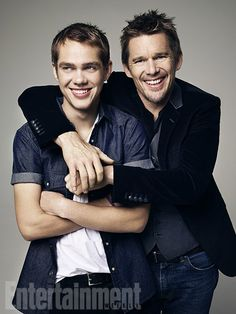 Ellar Coltrane and Ethan Hawke-BOYHOOD