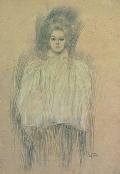 Gustav Klimt - Dame mit Cape - Lady with cape Gustav Klimt, Klimt Art, Life Drawing, Painting & Drawing, Franz Josef I, Art Nouveau, Vienna Secession, Inspirational Artwork, Sculpture