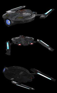 USS Beagle: new reflection maps AND impulse decks by harroldsheep.deviantart.com on @DeviantArt