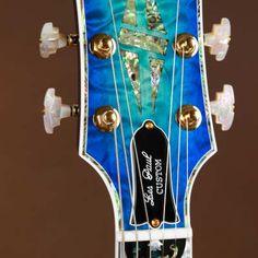 Gibson Les Paul Custom Harp Lady Blue Burst Flamed Maple | Reverb Guitar Inlay, Les Paul Custom, Gibson Les Paul, Harp