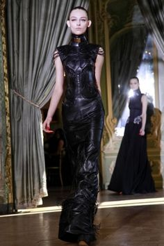 Emanuel Ungaro, Fall 2011 ... Edgy black dress.