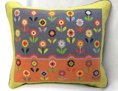 Tapestry Kits, Tapestry Design, Needlepoint Designs, Needlepoint Pillows, Tent Stitch, Clip Frame, Ditsy, Stitch Design, Daisies