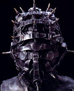 H R Giger 1993 WATCHGUARDIAN HEAD, iron & aluminium