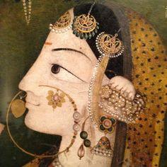 Sita - detail of Pahari painting