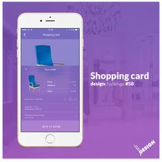 Shopping Card Design - Mobile app design in 100 day DAILY UI CHALLENGE