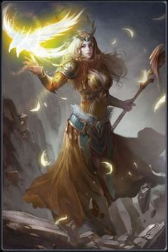 Nimue , apprentice to Merlin, Legendary Divineress and high priestess of Avalon