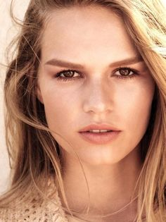 Getting her closeup, Anna Ewers models Chanel Les Beiges cosmetics