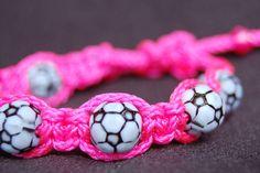 Soccer bracelet /  Trendy Soccer Mom / Soccer / by DiamondDivas33, $8.75