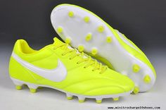 Buy Nike The Premier FG Cleats Fluorescent yellow/white 2013 Soccer Cleats