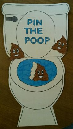 Emoji party pin the poop game