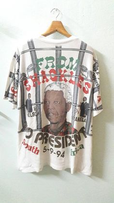 Nelson Mandela All over print hip hop fashion black Xl Fashion, Hip Hop Fashion, Fashion Black, Sport Fashion, Tupac Shakur, Nelson Mandela, Vintage Tees, Hoodie Jacket, Black History