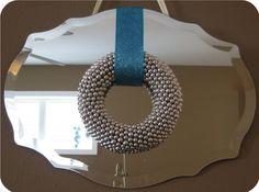 easy wreath made with beaded garland Diy Christmas Activities, Christmas Crafts, Christmas Ideas, Christmas 2015, Homemade Christmas, Holiday Ideas, Merry Christmas, Holiday Wreaths, Holiday Crafts